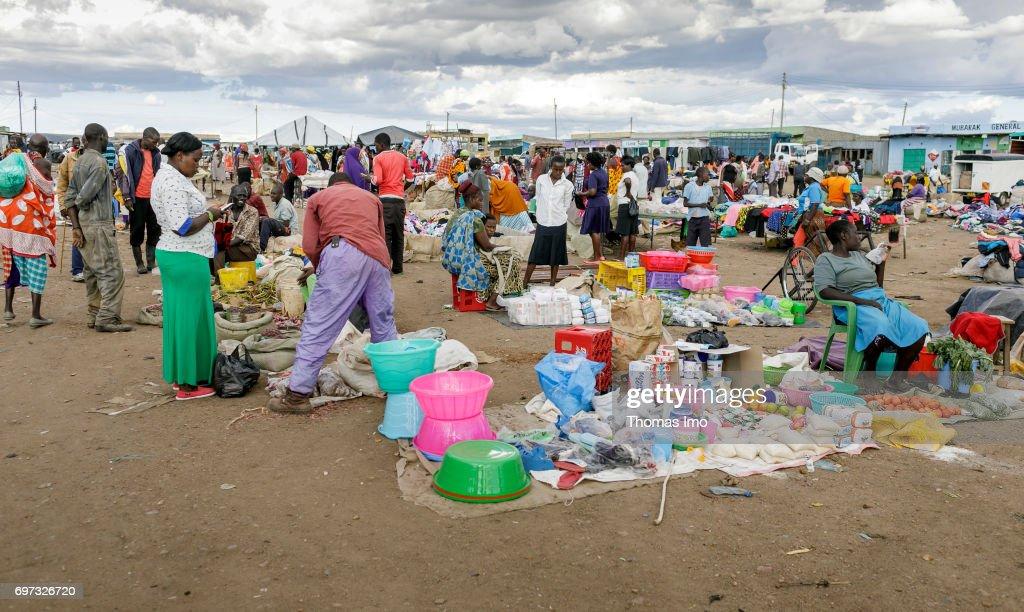 Market scene in Kenya : News Photo