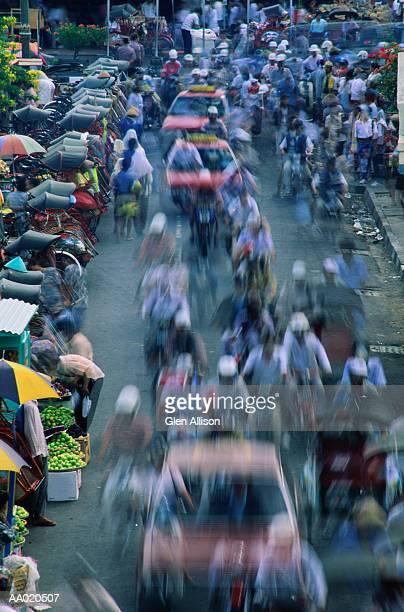 Street Traffic, Yogyakarta, Java, Indonesia