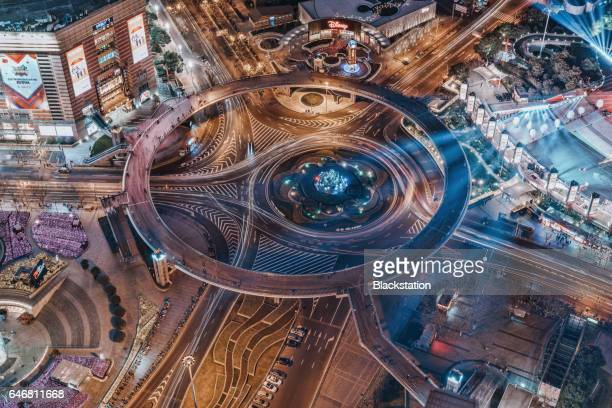 Street turntable in the city