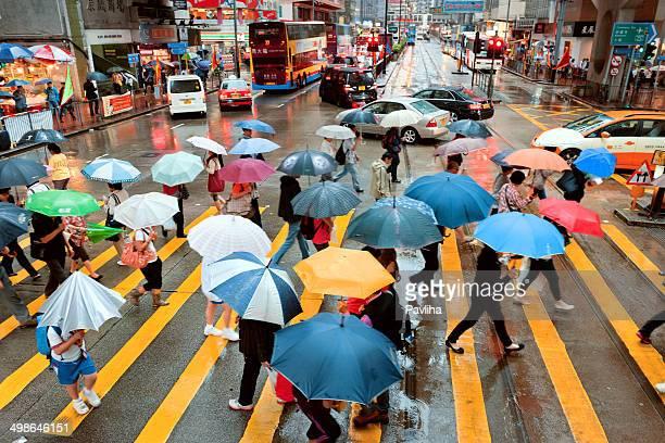 Street Under the Rain, Hong Kong, China