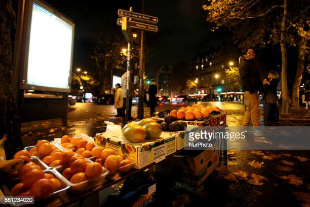 Street vendor from Bangladesh in Paris France on November 24 2017