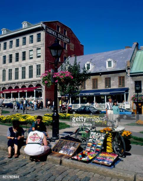 street vendor in place jacques cartier - place jacques cartier stock pictures, royalty-free photos & images