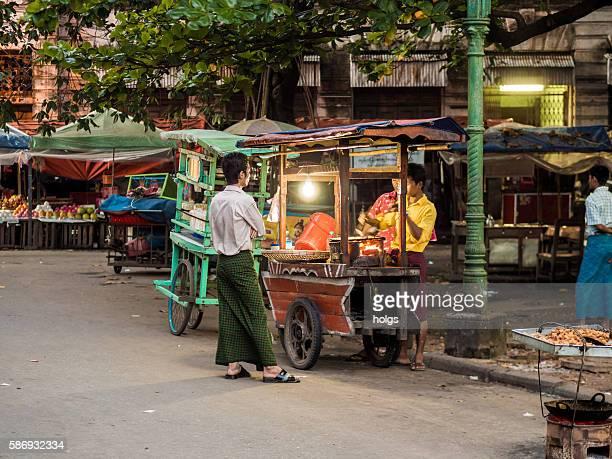 Street vendor in Yangon, Myanmar