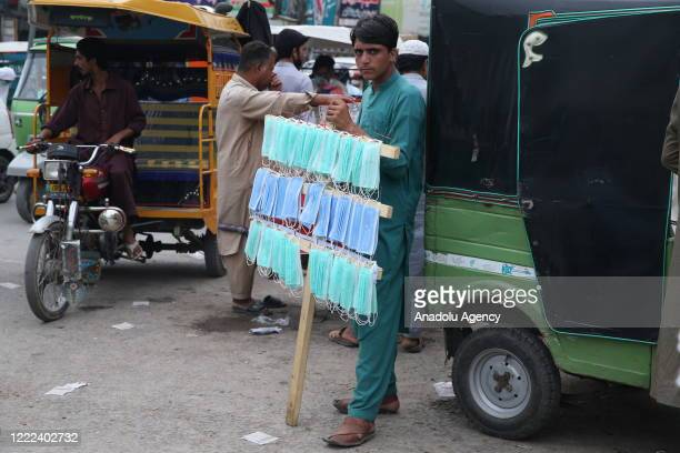 Street vendor is seen in Islamabad, Pakistan as coronavirus cases surpass 188 thousands in the country on June 24, 2020.