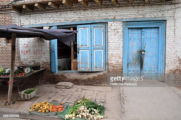 Street vendor of Vegetable in Kashgar of Xinjiang province in China