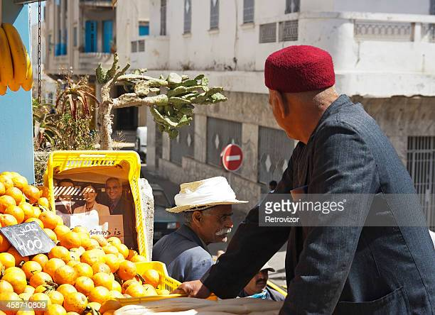 street vendor selling fruit in sousse, tunisia - sousse stock pictures, royalty-free photos & images