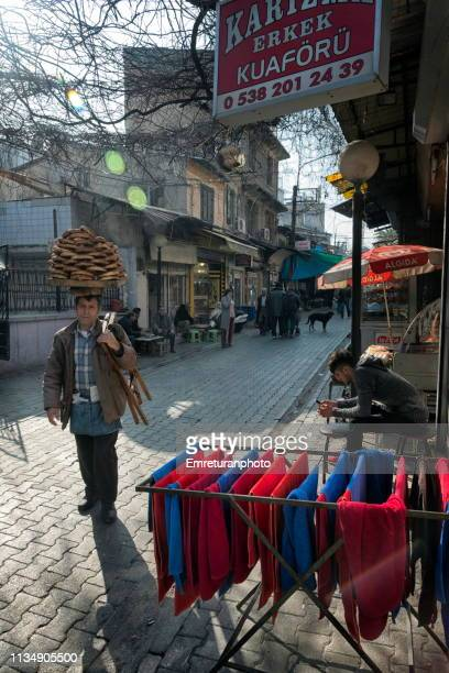 street vendor selling pastries,izmir. - emreturanphoto stock-fotos und bilder
