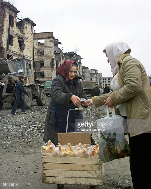 A street vendor sells chikens in the center of Grozny 16 December 2005 Chechnya's strongman leader turned down Thursday an idea to rename the...