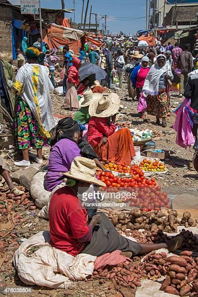 Street vendors at an African street market
