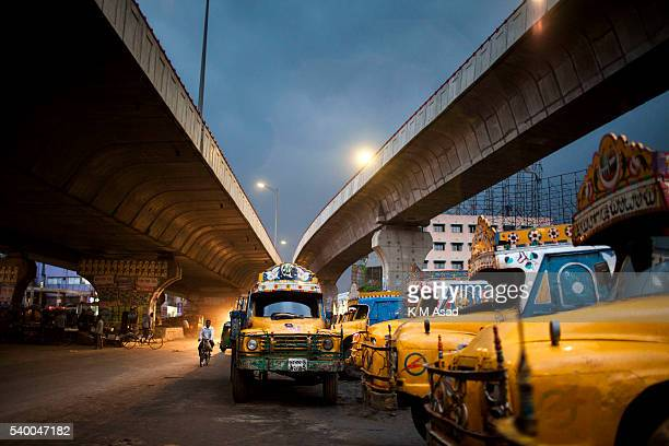 Street view before the rain during the Ramadan month in Dhaka Bangladesh June 12 2016 Muslims around the world celebrate the holy month of Ramadan by...