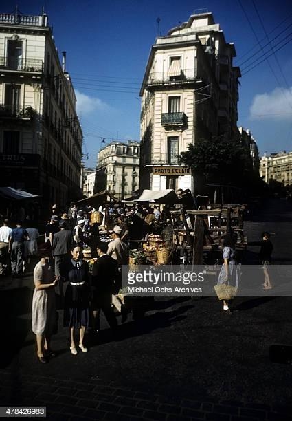 Street view in Algiers, Algeria.