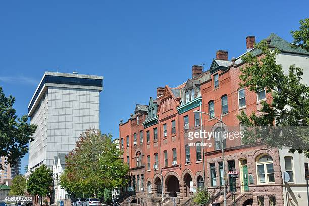 street view in downtown trenton - trenton new jersey stock photos and pictures