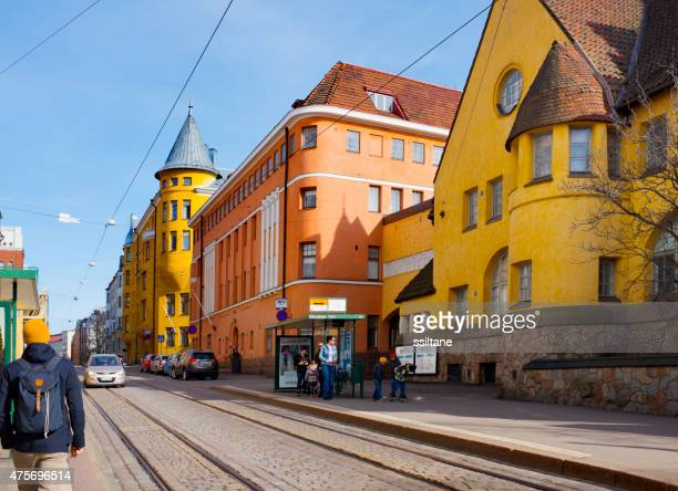 Street view in Helsinki, Finland