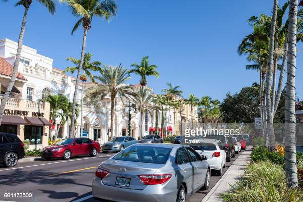street view in naples, florida, usa - naples florida stock pictures, royalty-free photos & images
