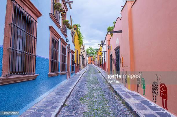 Street view in San Miguel de AllendeMexicok The historic city San Miguel de Allende is UNESCO World Heritage Site since 2008