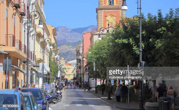 street view in sorrento italy - sorrento stock pictures, royalty-free photos & images