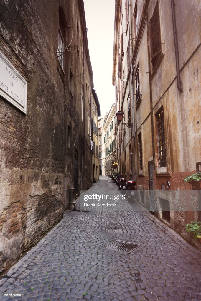 Street view in Trastevere : Stock Photo