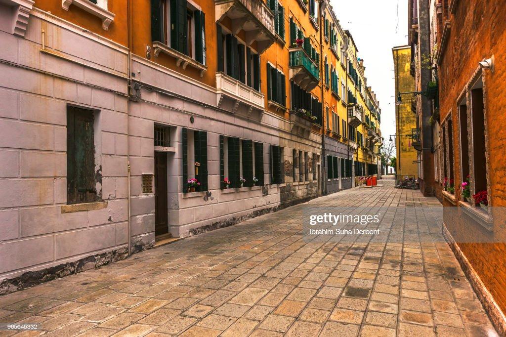 Street view in Venice, Italy : Stock Photo