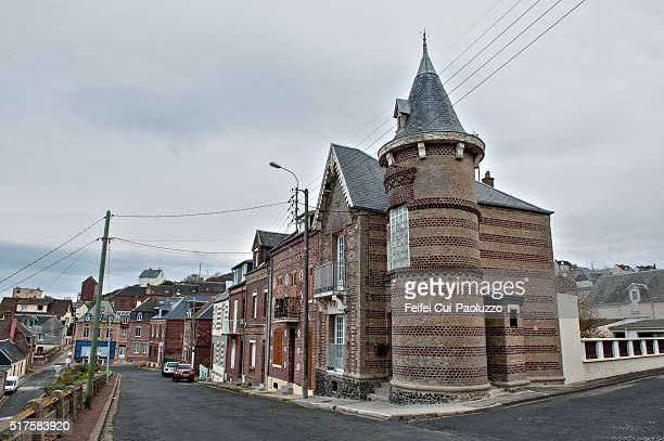 Street view of Ault in Somme department France