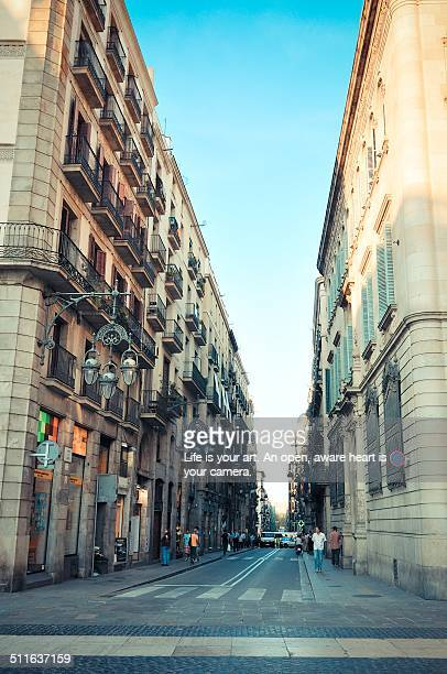 Street view of Barcelona