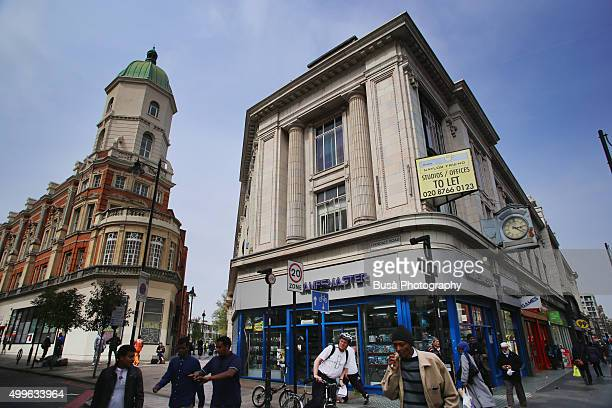 street view of brixton road, london, uk - brixton stock pictures, royalty-free photos & images