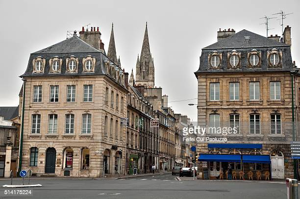 Street view of Caen Normandy France