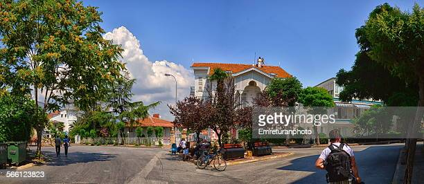 street view of central grand island - emreturanphoto stock pictures, royalty-free photos & images