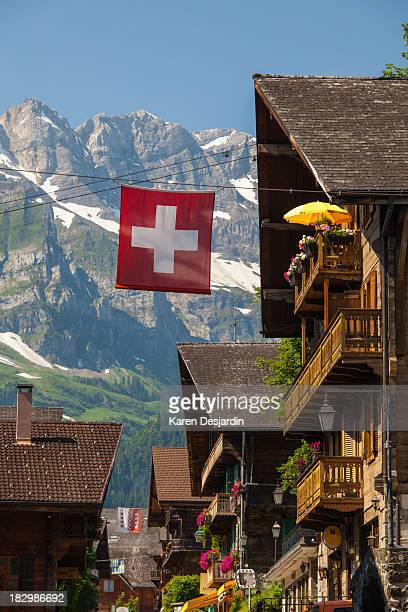 Street view of Champery, Switzerland