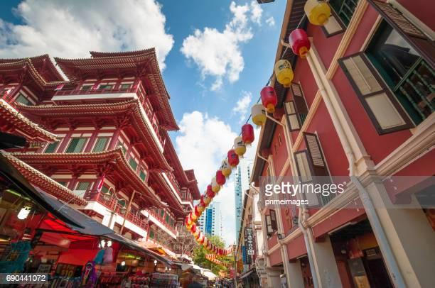 シンガポールの中華街のストリート ビュー - 中華街 ストックフォトと画像