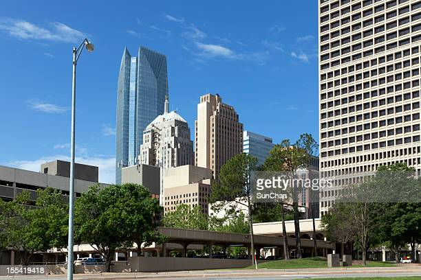 street view of downtown oklahoma city - oklahoma city stock pictures, royalty-free photos & images