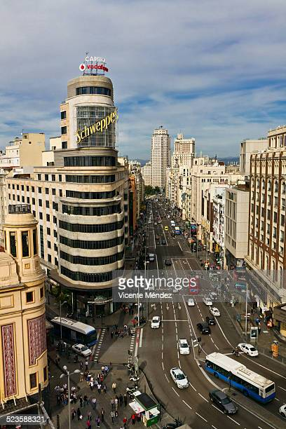 Street view of Gran Vía (Madrid)