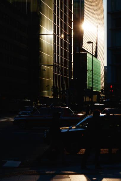 Street View of Marunouchi During Morning, Tokyo, Japan