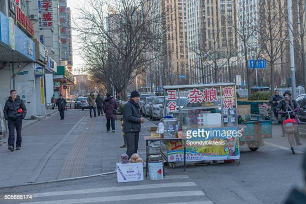 Street view of  of the street in Beijing Residence area