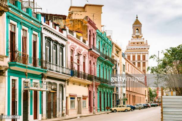 street view of old havana cuba - old havana stock pictures, royalty-free photos & images