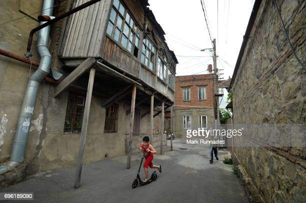 A street view of old town Metekhe area on June 14 2017 in Tbilisi Georgia The 2017 World Rugby Under 20 Championship are taking place in June in the...