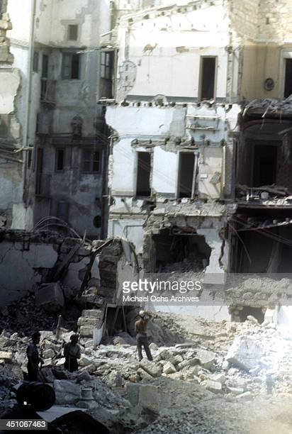 A street view of Palermo 5 days after the Allied forces won the campaign to invade Sicily called Operation Husky during the World War II in Palermo...