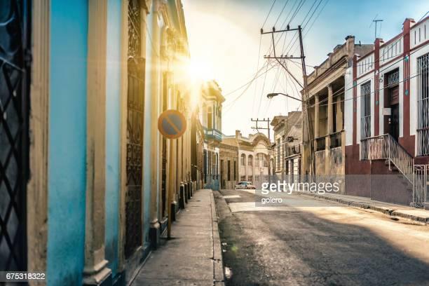 street view of Santaigo de Cuba in morning hour