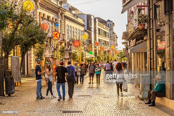 Street view of São João festival in Braga