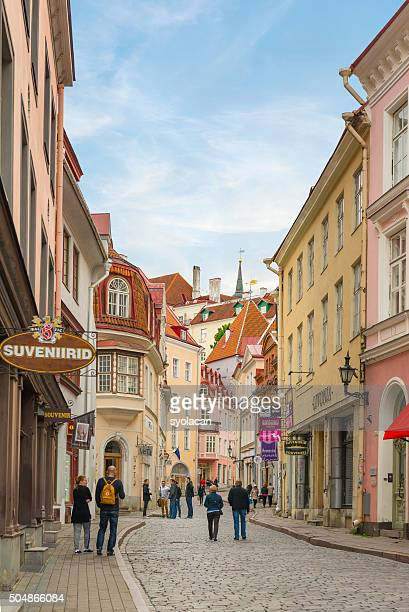 street view of tallinn, estonia - syolacan stock pictures, royalty-free photos & images