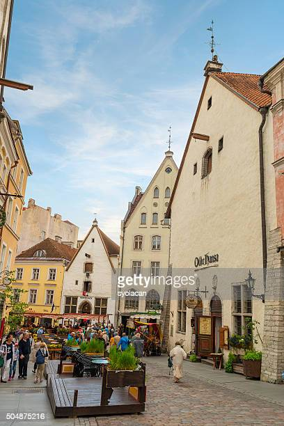 Street view of Tallinn, Estonia