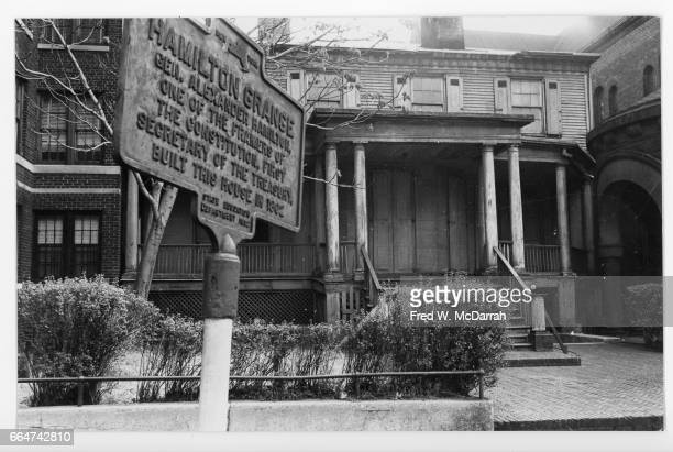 Street view of the Grange mansion New York New York March 17 1964 Former home of one of the US founding fathers Alexander Hamilton though it was...
