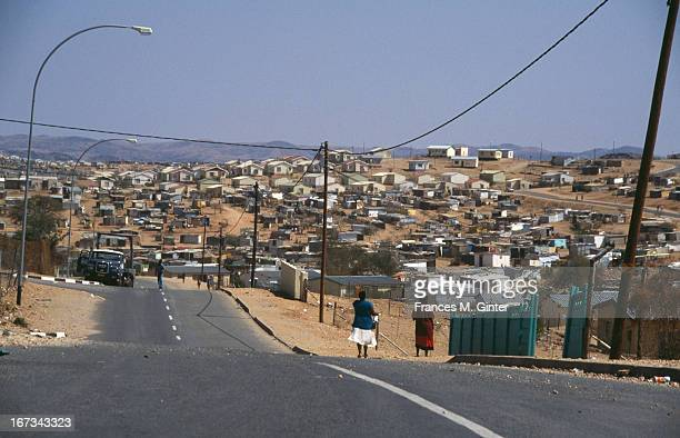 Street view of the Katutura Black Township located in Windhoek Namibia August 1995