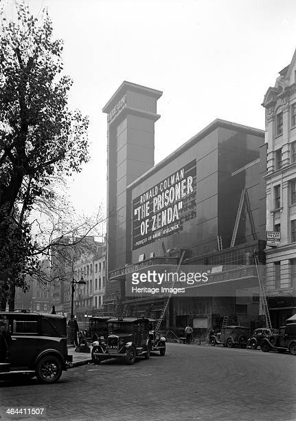 Street view of the Odeon Leicester Square London 1937 The photograph was taken prior to its opening on 2 November 1937 with the film 'The Prisoner of...
