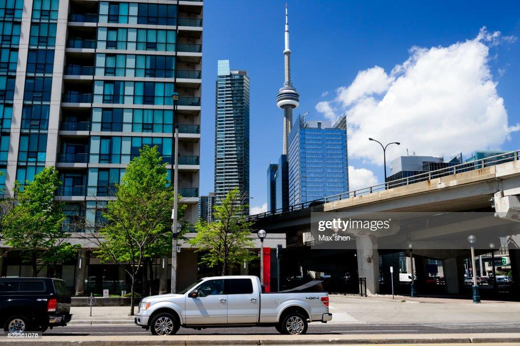 Street view of Toronto city : Stock Photo