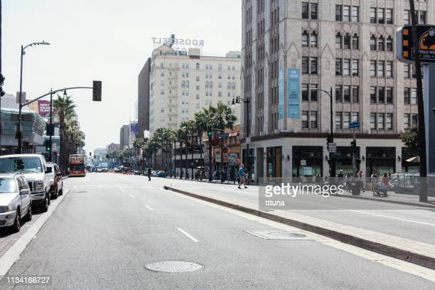 street view of walk of fame in hollywood - boulevard stock pictures, royalty-free photos & images