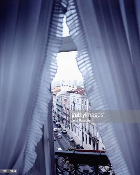Street view through window