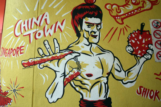 Street wall painting. Bruce Lee. Pictures | Getty Images
