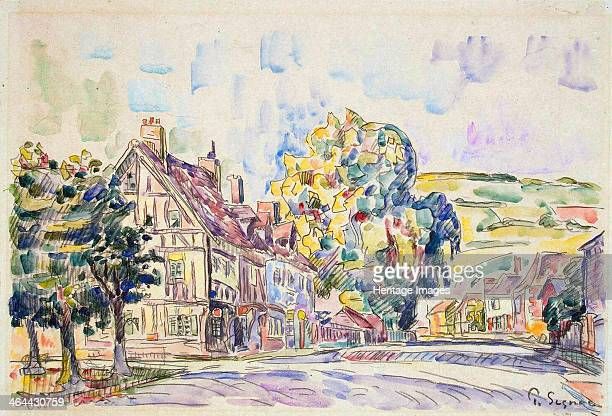 'Street with a Frame House in Normandy' c1925 Signac Paul Found in the collection of the State Hermitage St Petersburg