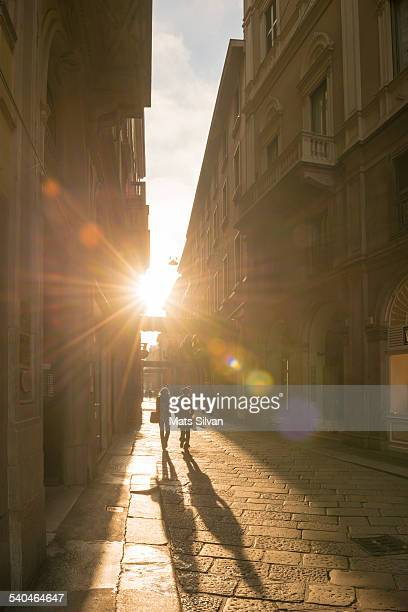 Street with sunlight