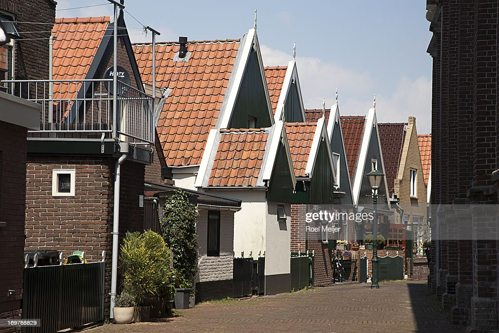 Street with traditional houses : Stock Photo